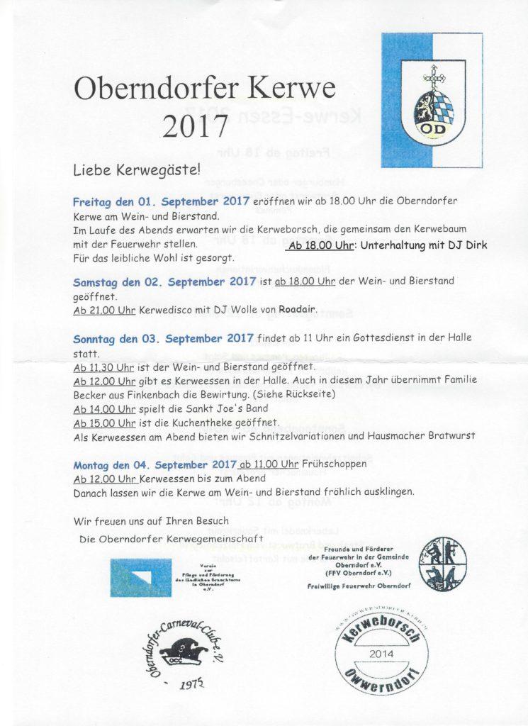 Kerwe 2017 Programm0001