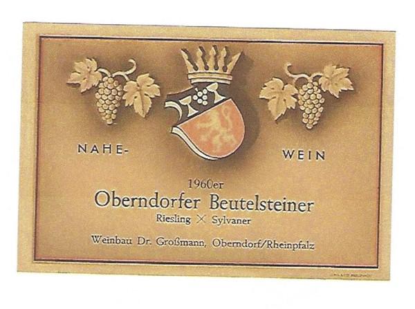 Beutelstein Großmann RieslingxSylvaner1960