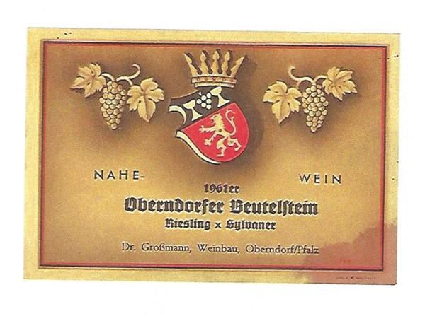 Beutelstein Großmann RieslingxSylvaner1961