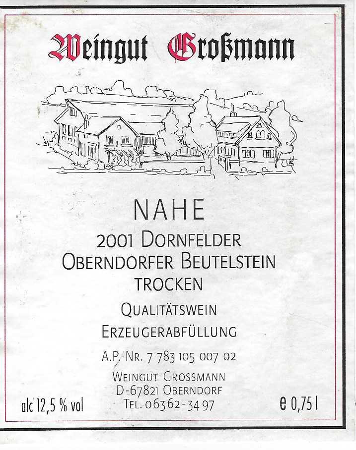 Großmann Etikett