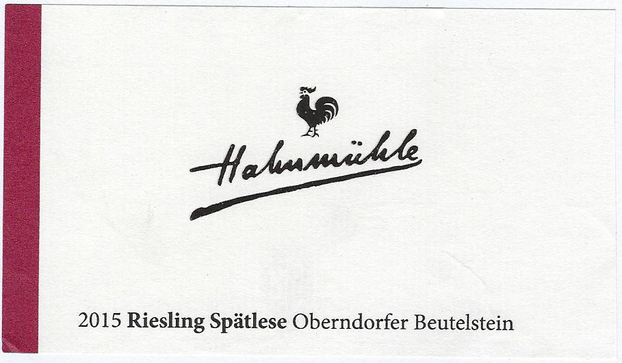 Hahnmühle Etikett